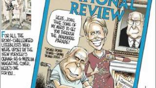 Right-wing spoof of New Yorker cover (Obama terrorist) shows John and Cindy Mccain