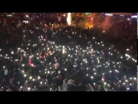لبنان ينتفض - مظاهر احتفالية في تظاهرة طرابلس و DJ