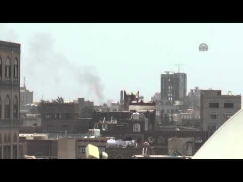 Saudi led coalition airstrikes to Sanaa 1