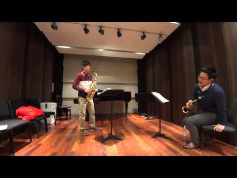 Saxophone Lesson on Creston Sonata  (In Japanese)