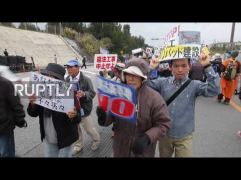 Japan: Protesters oppose US military base on land and at sea