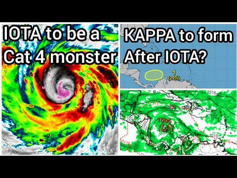 Tropical storm KAPPA to form in Caribbean? || Hurricane IOTA to be cat. 4 at landfall