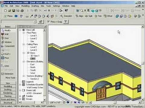Cadclip Revit Sloped Flat Floor And Roof By Shape