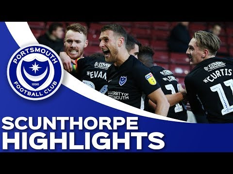 Highlights: Scunthorpe United 1-2 Portsmouth