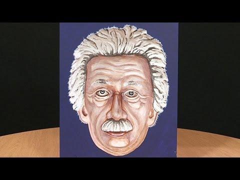 Painted Einstein Hollow Face Illusion