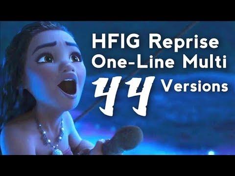 How Far I'll Go (Reprise) 44 Versions | One-Line Multilanguage | Moana / Vaiana