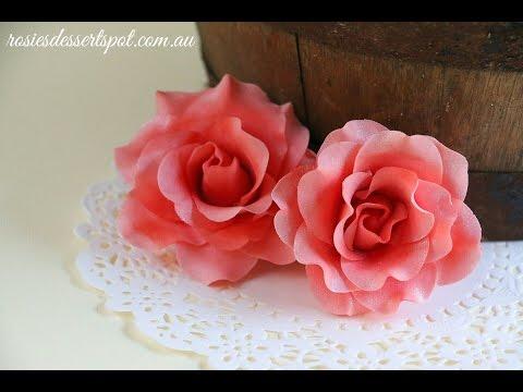 Quick And Easy Gumpaste Rose Tutorial- Rosie's Dessert Spot