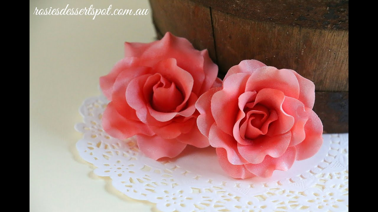 How To Make Sugar Paste Roses For Cakes