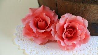 Quick and Easy Gumpaste Rose Tutorial- Rosie