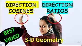 DIRECTION COSINES AND  DIRECTION RATIOS OF A VECTOR/LINE