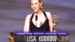 Lisa Kudrow wins 1998 Emmy Award for Supporting Actress in a Comedy Series