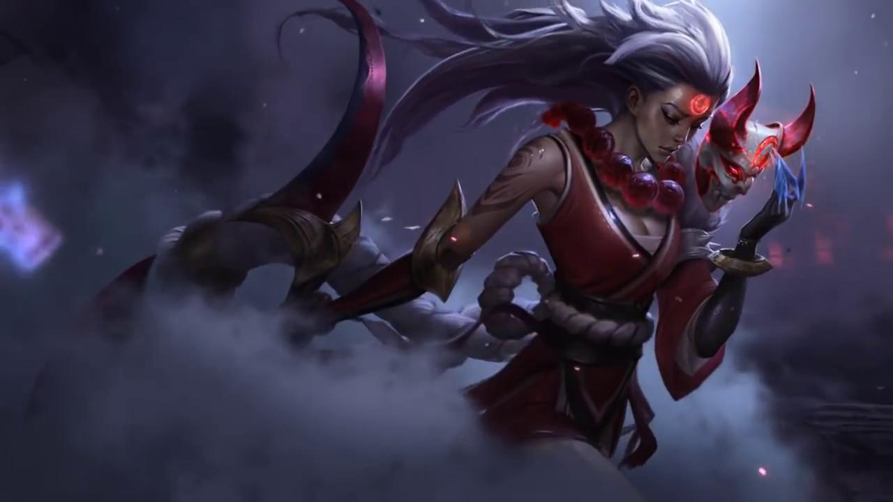 Wallpaper League Of Legends Diana Lua Sangrenta Youtube