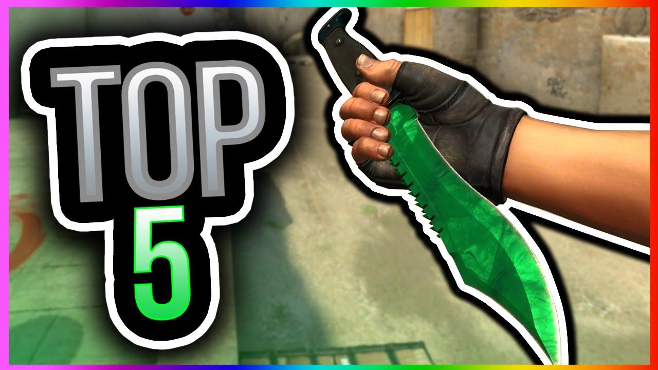 CSGO SKINS - TOP 5 HIDDEN BOWIE KNIFE SKINS! CS GO Secret