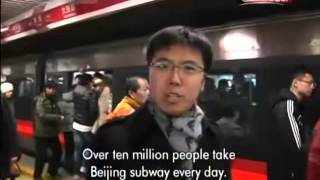 CCTV compares Beijing commutes by taxi, subway and bike