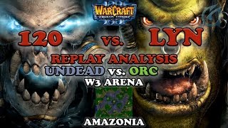 Grubby | Warcraft 3 The Frozen Throne | Pro Game Review - 120 vs. Lyn - Replay Analysis - Amazonia