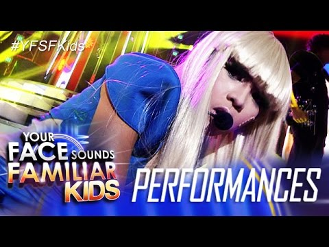 Your Face Sounds Familiar Kids: Lyca Gairanod as Lady Gaga-Poker Face