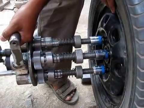 Motorized Multi wheel nut fastener/fastener
