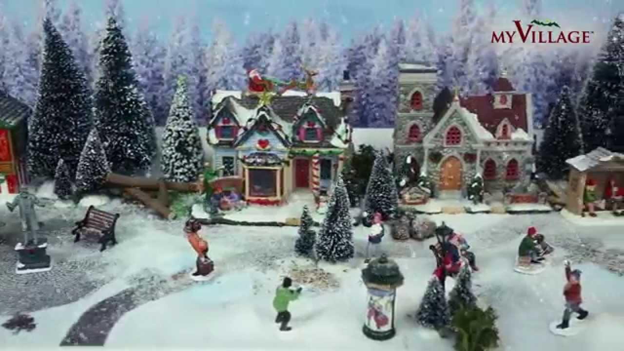 Comment faire un beau village de no l 2 4 youtube - Decoration pour village de noel ...