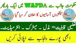 WAPDA Jobs 2019 by www.wapda.gov.pk Download Application form