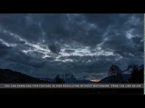 Sunset clouds in the Alps. St. Gerve. Time-lapse