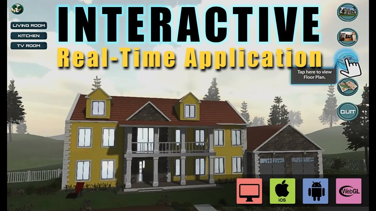 interactive virtual reality development studio exterior interior floor plan vr apps youtube. Black Bedroom Furniture Sets. Home Design Ideas