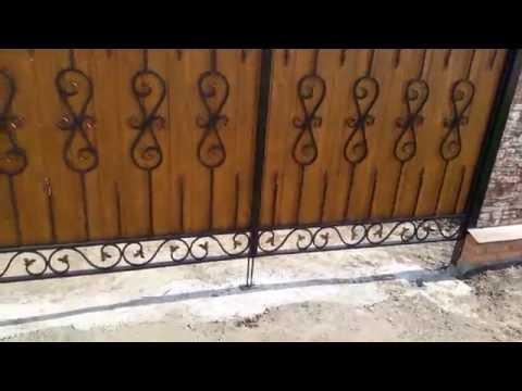 Очень красивый Забор из профнастила
