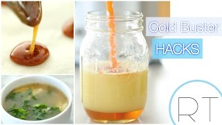 Cold Busting Recipe Hacks (DIY Cough Drops, Juice Shot, Soup)