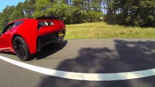 2016 c7 z06 corvette with corsa exhaust x pipe