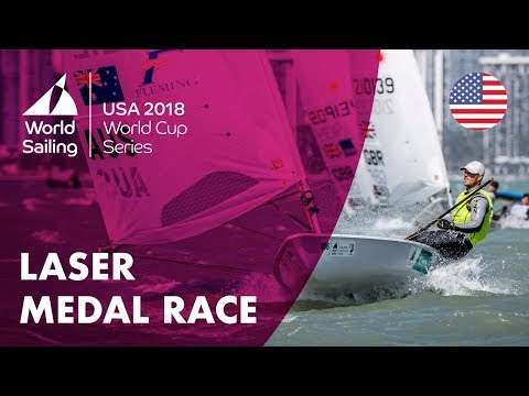 Full Laser Medal Race  Sailing's World Cup Series  Miami, USA 2018