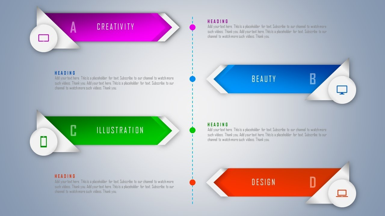 How to design timeline infographic for corporate for How to set up a powerpoint template