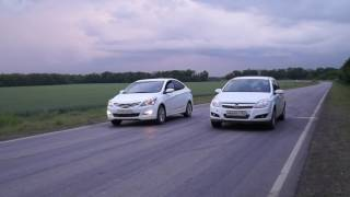 Hyundai Solaris 1.6 АТ vs Opel Astra 1.6 MT