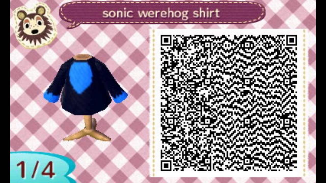 Sonic The Werehog Shirt Animal Crossing New Leaf Youtube