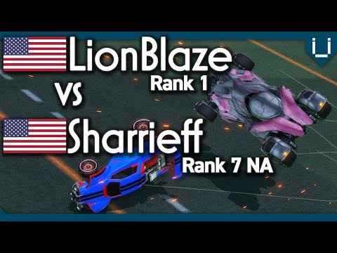 LionBlaze (Rank 1) vs Sharrieff (Rank 7 NA) | Rocket League 1v1 thumbnail