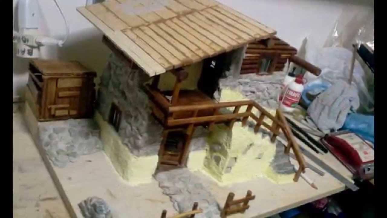Modellismo la mia baita 13 youtube - Come costruire una casa in miniatura ...