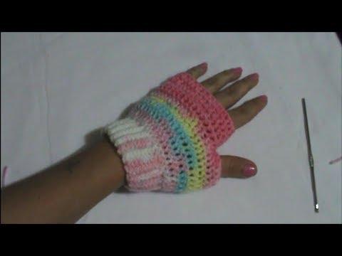 Guante sin Dedos En Crochet - YouTube