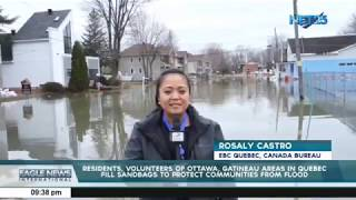 People of Ottawa, Gatineau in Quebec fill sandbags to protect area from floods
