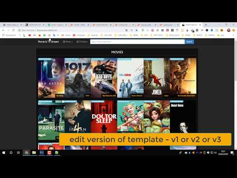 landing page for CPA movie automated affiliate imdb script _ video tutorial