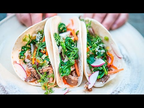 Korean BBQ Beef Tacos Recipe