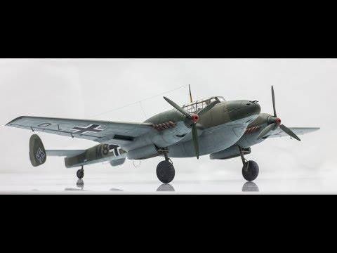 Bf 110D Eduard 1/72 Step by Step Scale Model Build