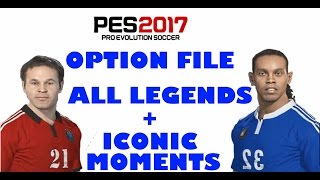 Patch option file all legends + iconic moments pes 2017 ps4