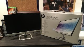 "HP - 22es 21.5"" IPS LED HD Monitor Unboxing and Review"