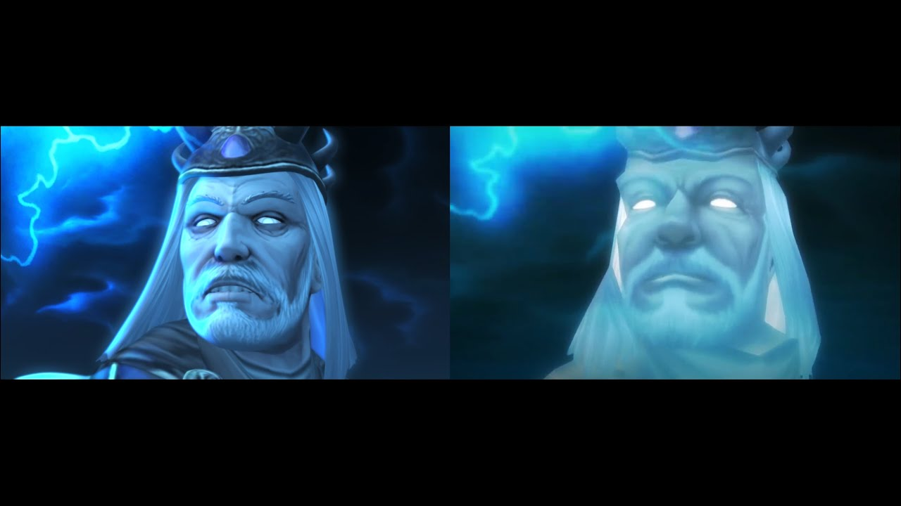 Fall of the Lich King Ending - Remastered vs Original comparison