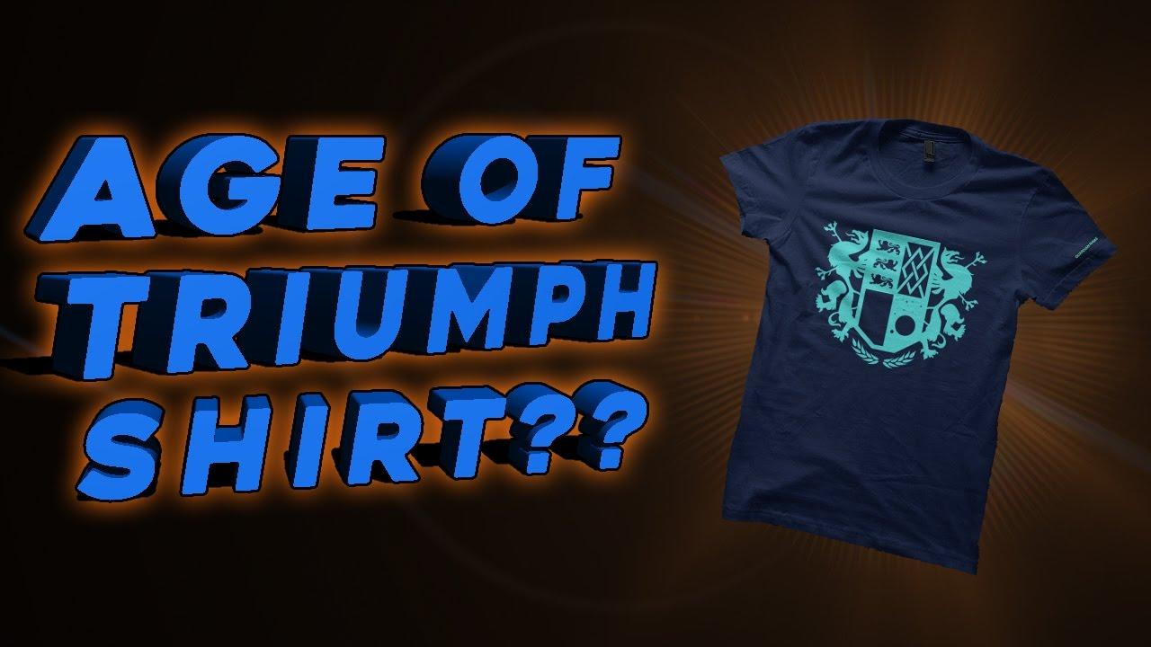 destiny: age of triumph shirt???? - youtube