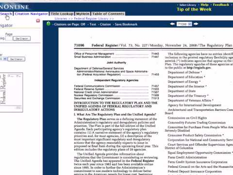 How to Find Regulatory Agendas in the Federal Register after the Fall of 2007