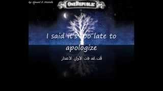 OneRepublic - Apologize مترجمة