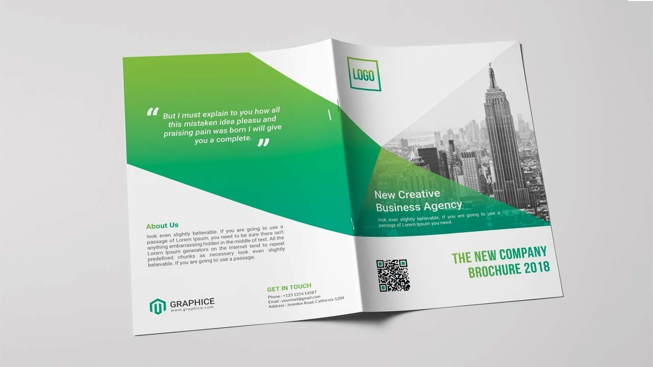 bi fold brochure design how to design bi fold brochure in photoshop
