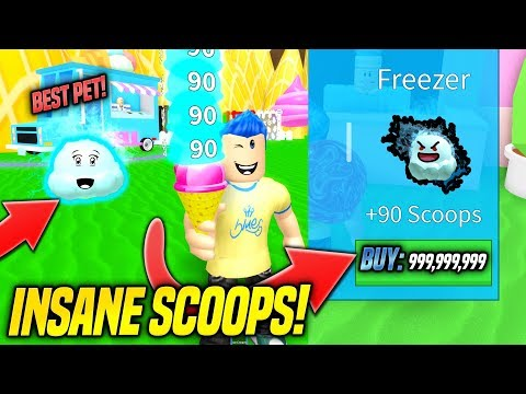 I GOT THE BEST PET IN ICE CREAM SIMULATOR AND IT'S OVERPOWERED!! (Roblox)