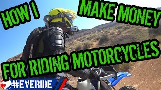 Top 10 Ways I Make Money for Riding Motorcycles #everide