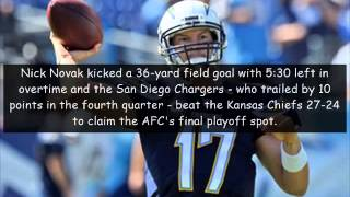 San diego chargers hits claim final afc playoff spot with ot win
