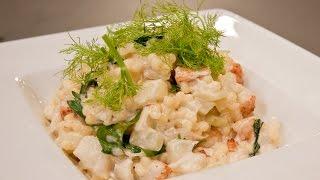 Risotto de fregola à la bolognaise de homard par le Chef Schenker